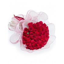 Ramo De 50 Rosas Naturales Calidad De Exportacion