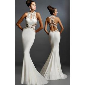 Vestidos de fiesta largos color blanco