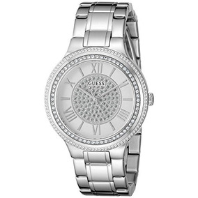 Guess Mujer U0637l1 Reloj De Pulsera De Plata Con Esfera Bl