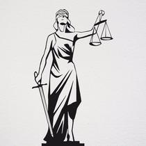Adesivo Decorativo Advocacia Deusa Da Justiça