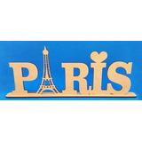 Palavras Decorativas Mdf Crú Paris Enfeite Sala Mesa Baby