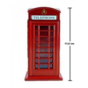 Cofre Cabine Telefone Londres Metal Retro/vintage 18cm