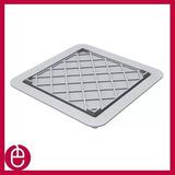 Kit 02 Ralo Linear Square Fit Tampa Oculta Pvc 15x15 Cm