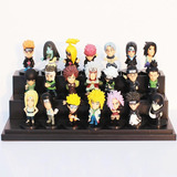 Kit 21 Bonecos Miniatura Naruto Shippuden Coleção Completa