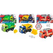Auto Camion Infantil Nene Mueve Solo Dicky Bombero Basura