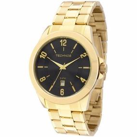 Relógio Technos Dourado Masculino 2115kon/4p Original + Nf