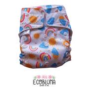 Pañal De Tela Ecobluma Bolsillo Summer Arcoiris Blanco