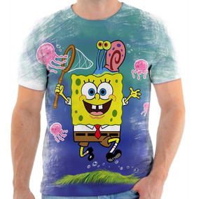 Camiseta Blusa Personalizada Bob Esponja Jogos Desenho 5