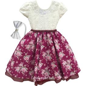 Vestido Infantil Festa Princesa Jardim Encantado Dama Etiara