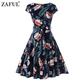 Zaful Hepburn Serie Vintage Vestido