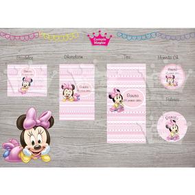 Minnie Bebe Golosinas Personalizadas Etiquetas Candy Barx100