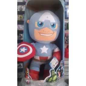 Boneco Pelúcia Capital América+ Homem De Ferro T: G Buba Toy