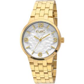 14af1ea24b449 Relógio Feminino Analógico Euro Bastia Eu2036qm 4b Dourado ...