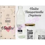 Etiquetas Pvc Transparentes Personalizadas /frascos Botellas