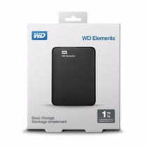 Hd Externo 1tb Wd Portatil Western Digital Elements 1 Tera