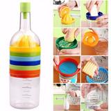Botella 8 En 1: Exprimidor, Embudo, Rallador, Colador Y Más