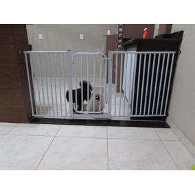 Oferta Grade Porta Portão Pet Criança Bebe Cão P/ 67 A 130cm