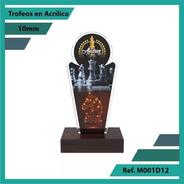 Trofeos En Acrilico De Ajedrez Ref. M001d12