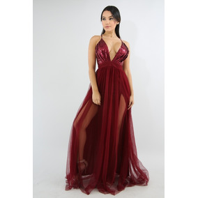 Hermoso Vestido De Fiesta, Importado, Mediano