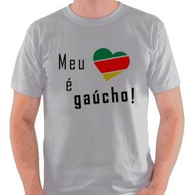 Camiseta Rio Grande Do Sul Meu Coração É Gaúcho Camisa Blusa