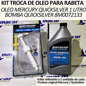 Kit Oleo Mercury Premium + Bomba P/ Troca De Óleo De Rabeta
