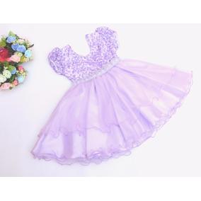 Vestido Festa Infantil Daminha Casamento Princesa Batizado