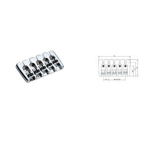 Ponte Para Baixo Cromada 5 Cordas 16.5mm Bb002