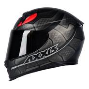 Capacete Moto Axxis By Mt Snake Preto Cinza Fosco Serpente