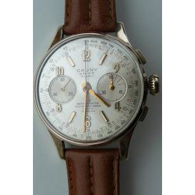 Reloj En Oro Suizo Cronografo Cauny 38mm 17 Rubis