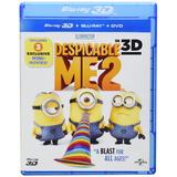 Mi Villano Favorito 2 Bluray 3d + Bluray + Dvd Nuevo