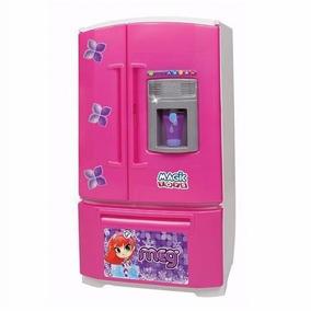 Geladeira Inverse Infantil Com Água Original 8053 Magic Toys
