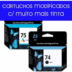 Kit 2 Cartuchos Hp 74xl 25ml + Hp 75xl 15ml C4480 C4280