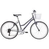 Bicicleta Oxford Onix Aro 24 Mujer Color Titanio/ Morado