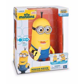 Minion Kevin Interactivo Con Banana Licencia Original 25cm