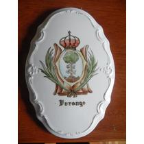 Escudo De Durango Pintado A Mano En Ceramica.