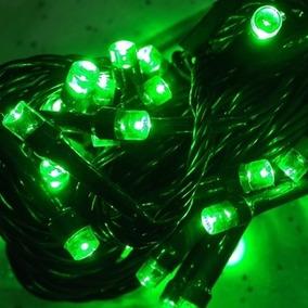 Pisca Pisca Lâmpadas Led Verde 100 Led´s 8 Funções