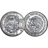 Moneda Conmemorativa De Cincuenta Pesos Mexicanos, 1982