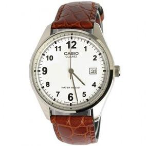 20902006124 Relógio Casio Social Mtp1175 Couro Calendário E 3 Ponteiros