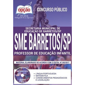 Apostila Sme Barretos Sp 2017 - Professor Educação Infantil