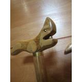 Baston De Apoyo ,madera Noble,detalles Bronce