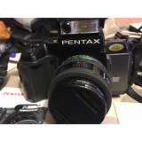 Camara 35mm Pentax Sf11 Iqzoom 700 Maleta Hervic