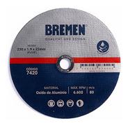 Disco Corte Amoladora Metal 230 X 1.9mm Caja 10u Bremen 7420