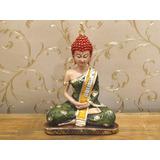 Estátua Buda Tibetano Hindu Pedra Feng Shui Meditação