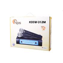 Microfone Kadosh Kdsw 312m Sem Fio Duplo Vhf