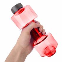 Botella Para Agua De 550 Ml Forma De Pesa Gym Rojo D1101