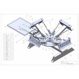 Planos Guia Para Fabricar Pulpo De Serigrafia Completo