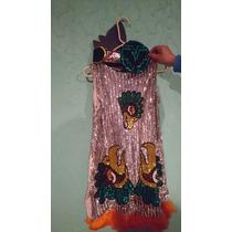 Vestido De Danza Azteca Talla De 8 A 10 Años Con Penacho