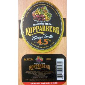 Etiqueta Sidra Kopparberg Winter Fruits - Suecia (nueva)