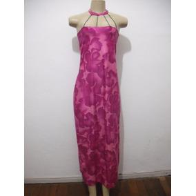 Vestido Casual Festa Rosa Longo Tam G Usado Bom Estado