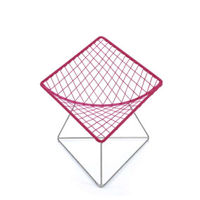 Silla Cometa Rosa Mexicano Con Estructura Cromada